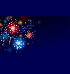 fireworks design with copy space vector image