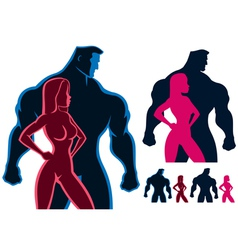 Fit Couple vector