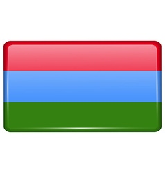 Flags Karelia in the form of a magnet on vector