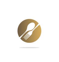 Food eat spoon fork restaurant logo vector