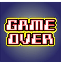 Game over sign vector image