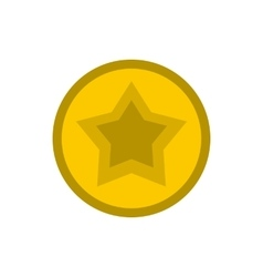 Golden star icon flat style vector image
