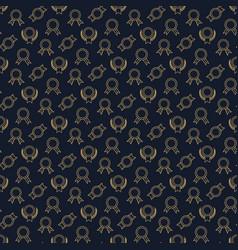 golden winner badge seamless pattern vector image