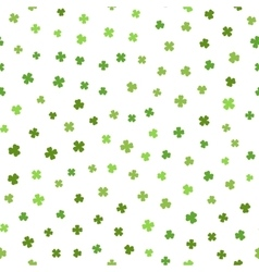 Green seamless pattern for St Patricks day vector