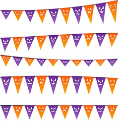 Halloween hanging streamers flags for your party vector