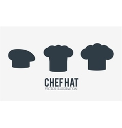 Hat icon set of restaurant chef design vector image