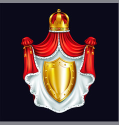 Heraldic emblem royal family realistic vector