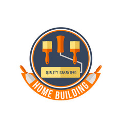 home building or painting work tools icon vector image