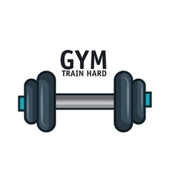 icon barbell gym training hard design vector image