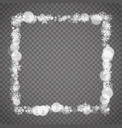 Isolated snowflakes on transparent vector