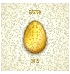Jewelery easter egg vector