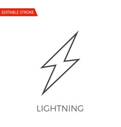 lightning icon vector image
