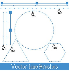 line brushes vector image