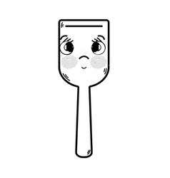 Line kawaii cute tender kitchen utensil vector