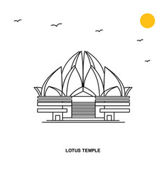 Lotus temple monument world travel natural vector