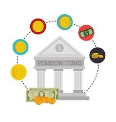 Money pension fund vector
