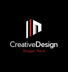 n building creative business logo vector image