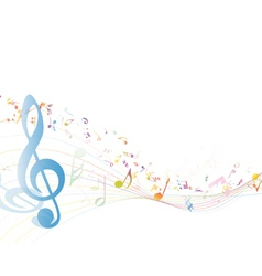 Notes music color vector