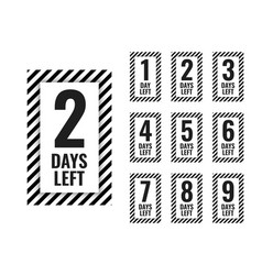 Number of days left countdown timer vector
