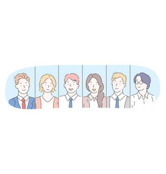 office workers business managers teamwork vector image