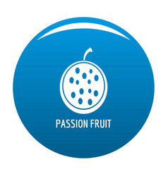 passion fruit icon blue vector image