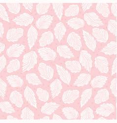 Pastel pink falling leaves flower seamless vector