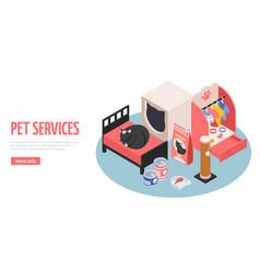 pet services web page vector image