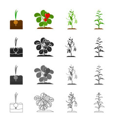 plotfarm nature and other web icon in cartoon vector image