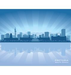 Pretoria South Africa city skyline silhouette vector image