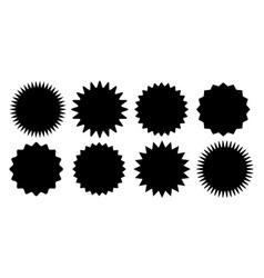 Promo sale sticker starburst sunburst icon vector