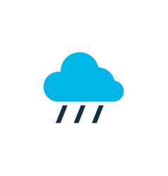 rain icon colored symbol premium quality isolated vector image