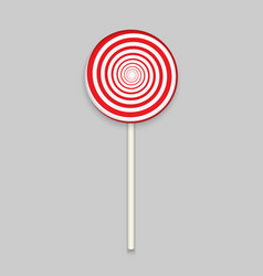 Rainbow lolipop candy on white background vector