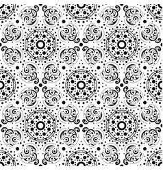 Seamless abstract pattern in black and white vector