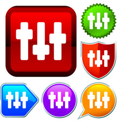Set shiny icon series on buttons adjust vector