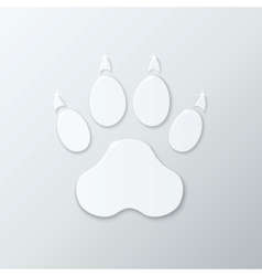 Shiny Plastic Trace of Dog vector image