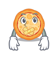 silent cheese pizza on a character plate vector image