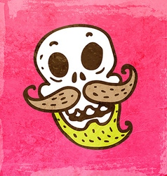 Skeleton with Facial Hair Cartoon vector