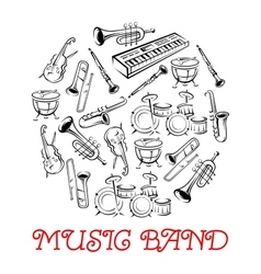 Sketched sound instruments for musical band vector