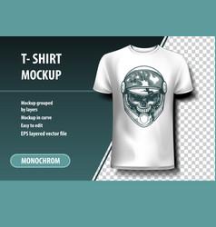 Skull racer t-shirt template fully editable vector