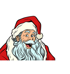 Sly santa claus isolated on white background vector