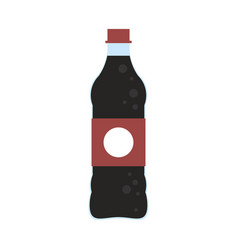soda bottle isolated vector image