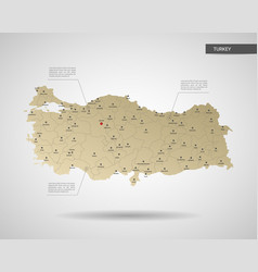 Stylized turkey map vector
