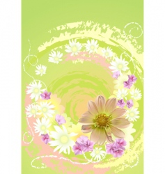 Summer daisy flower background vector