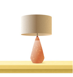 table lamp realistic 3d color vector image