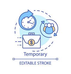 Temporary concept icon odd job idea thin line vector