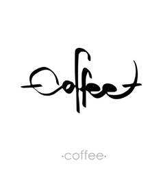 Text coffee written vector