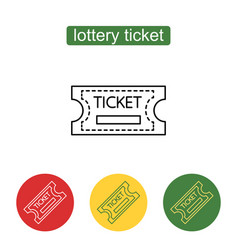 Tickets icon outline vector