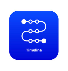 Timeline icon blue vector