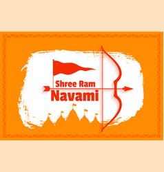 Traditional shree ram navami festival card design vector