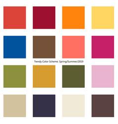 Trendy color scheme by plain color boxes vector